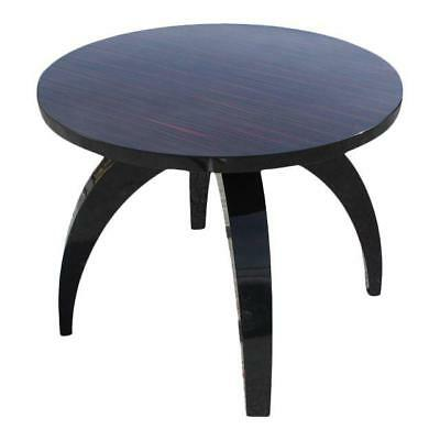 Monumental French Art Deco  Macassar Ebony Round Center Table or Dining Table .