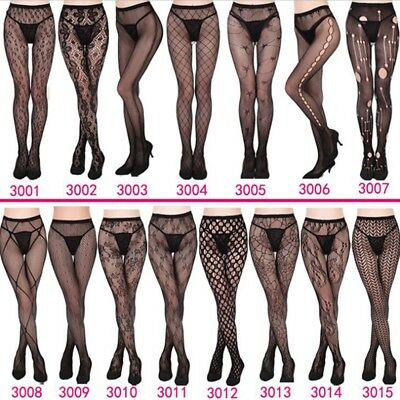 Womens Lace Tights Stocking Black Pantyhose Hollow Patterned Sexy Lingerie Socks