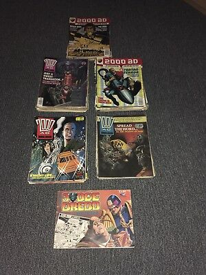 95 2000AD comics from 1985 - 1997 Great Condition job lot Featuring Judge Dredd