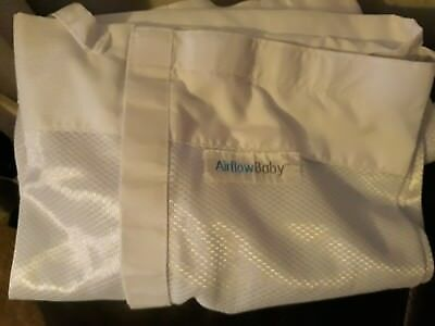 2 Airflow Breathable Baby Mesh Cot Bumpers/liners