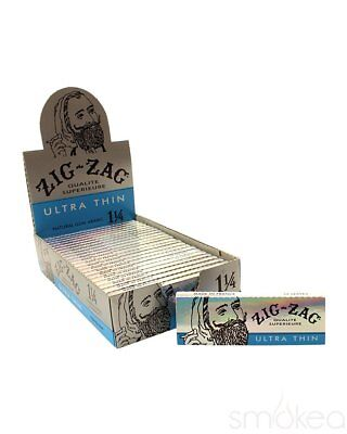 24x Packs Zig Zag Ultra Thin 1.25 ( 32 Leaves / Papers Each Pack ) Rolling BOX