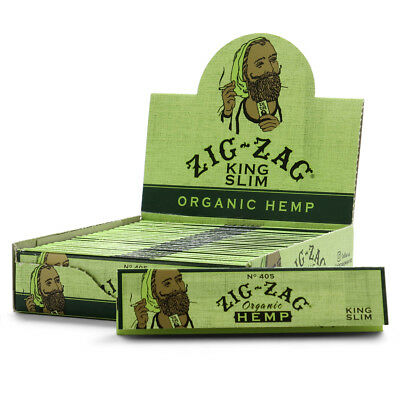 24x Zig Zag Organic King Size Slim (32 Leaves Papers Pack) Rolling FULL BOX