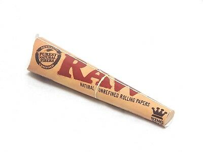 1x Pack RAW Classic King Size Cones ( 3 Cones Total )  Pure Natural Unrefined