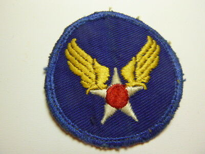 A    WW 2 U S Army Air Force Embroidered Twill  Small Type Patch