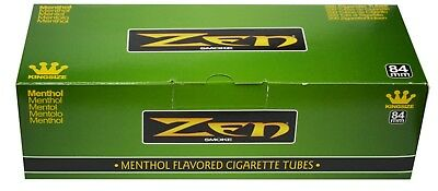 1x Box Zen Menthol King Size (200 Tubes) Cigarette Tube Tobacco Green Rolling