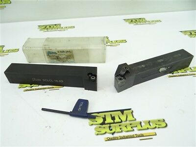 """Pair Of Precision Indexable Tool Holders 1"""" Shank Kennametal Mclnr Tmx Sclcl"""