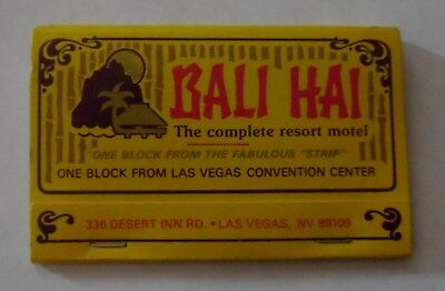 vintage 1980's MATCHBOOK BALI HAI  Las Vegas, NV double size  unused