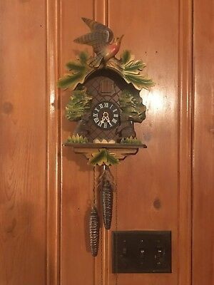 Antique German Carved Wooden Cuckoo Clock