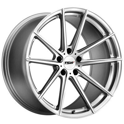 "4-NEW 19"" Inch TSW Bathurst 19x8.5 5x112 +32mm Silver/Mirror Wheels Rims"