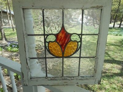 LA-120A Lovely Older Leaded Stained Glass Window F/England Last One  20 X 20.5