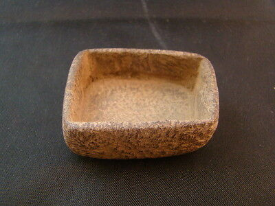 Chinese 19th century nice hand made hard stone small square pot  r159