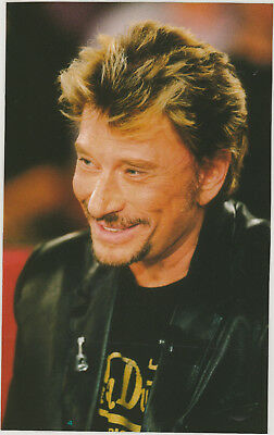 JOHNNY  HALLYDAY :   PHOTO de REVUE  PLASTIFIEE