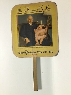 PUTNAM Fadeless Dyes And Tints Advertising Fan