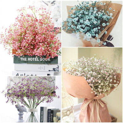 Home Party Decor Artificial Fake Baby's Breath Gypsophila Silk Flowers Bouquet