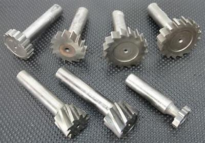 """Lot Of 7 Assorted Hss Keyseat Cutters 3/4"""" To 1-1/2"""" B&s Keo Cle"""