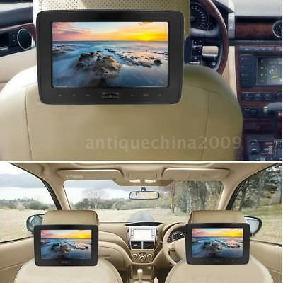 "10"" HD Car Headrest DVD Player Digital LCD Movies Games Monitor USB/SD/AV E0O7"