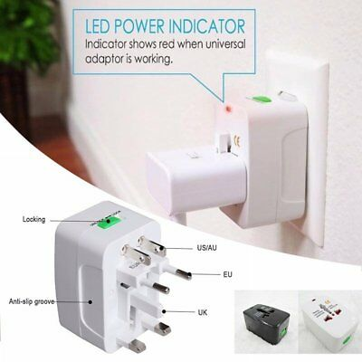 US to EU UK AU Universal Travel Adapter Charger Converter AC Power Plug Socket