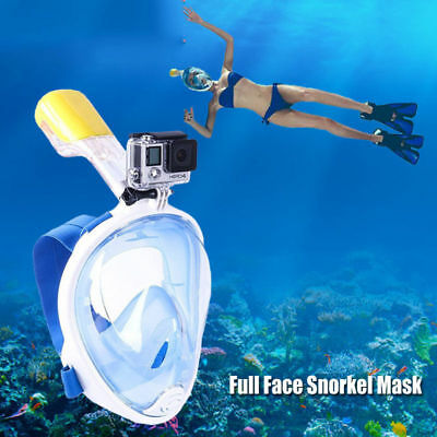 Kinder Swimming Diving Full Face Snorkel Scuba Anti-Fog Mask Surface for GoPro W