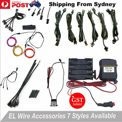 7 Types EL Wire Accessories USB Inverter Splitter Cable Driver Female Connector
