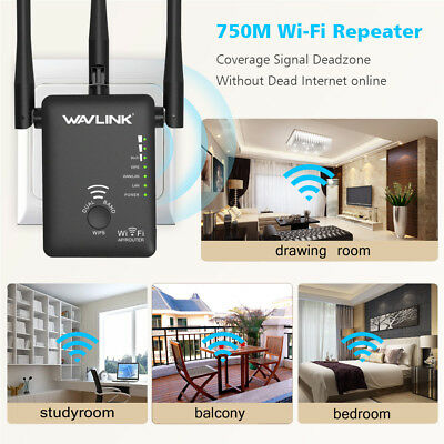 Wavlink AC750 Dual Band WiFI Repeater, estensore di portata wireless con 3 anten