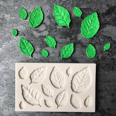 Leaf Shaped Silicone Mold Leaves Cake Decor Fondant Cookies Moulds Baking M&C