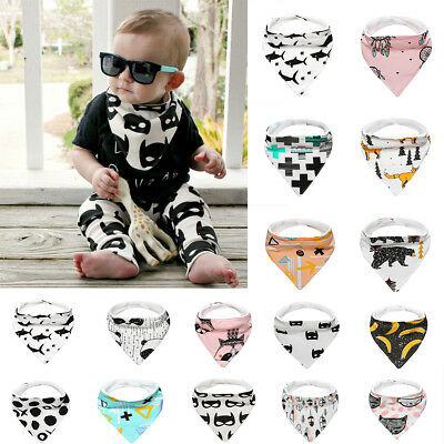 1 pc Kids Baby Feeding Head Scarf Towel Bib Bandana Saliva Triangle Dribble
