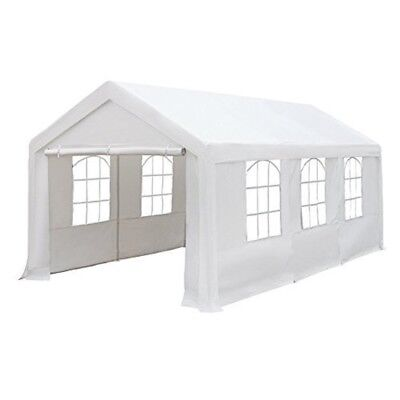Patio 10x20Feet Heavy Duty Carport with Windows and SidewallsPatio Tend White