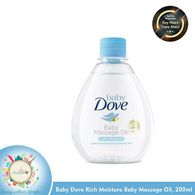 Baby Dove Rich Moisture Baby Massage Oil - (200ml) Free Shipping