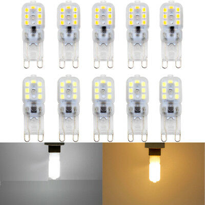 10pcs Dimmable G9 5W Silicone Crystal LED Corn Bulb SpotLight White Lamp AC 220V