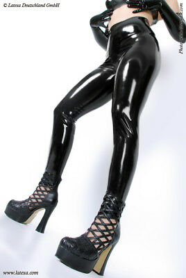 Latex Leggings, unisex  2XL schwarz