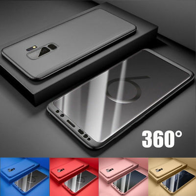 Handy Hülle Samsung Galaxy S7 / S8 / S9 / Plus Full Cover 360° Grad Schutz Case