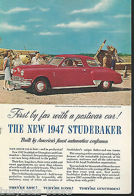 1946 STUDEBAKER advertisement, 1947 Studebaker Commander Regal De Luxe