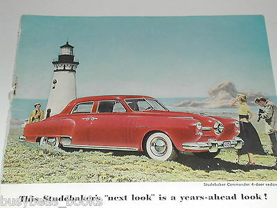 1950 STUDEBAKER COMMANDER advertisement,  color photo Studebaker Commander ad