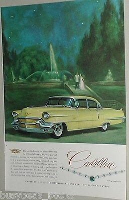 1956 CADILLAC advertisement, Cadillac Sixty Special, color painting
