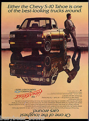 1989 CHEVROLET S-10 pickup advertisement, Chevy S10 TAHOE, clean & muddy