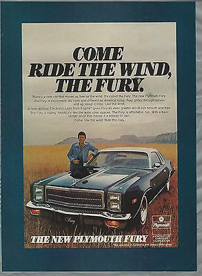 1976 PLYOUTH FURY advertisement, Plymouth Fury coupe ad
