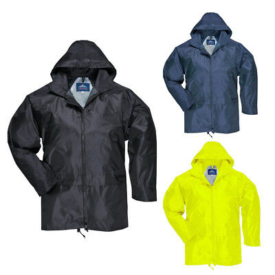 Raincoat Rain For Portwest Men Women Waterproof Coat Black ,Size XXL Jacket