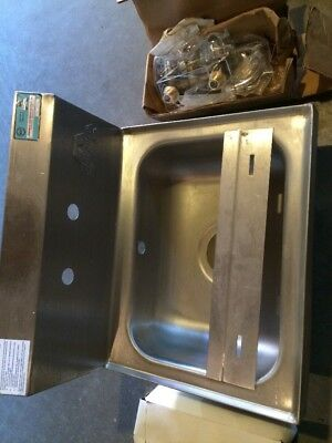 Advance Tabco Stainless Steel Hand Sink 7-PS-60 with Faucet & Mount NOS