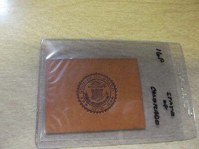 Early 1900's Leather Tobacco Silk/patch --- Colorado University/college