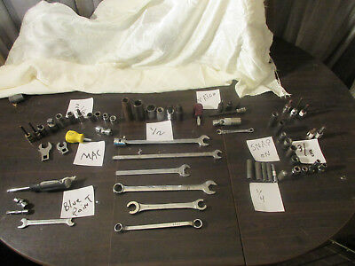 Snap-On MAC MATCO BLUE POINTTools lot Wrenchs, Sockets,