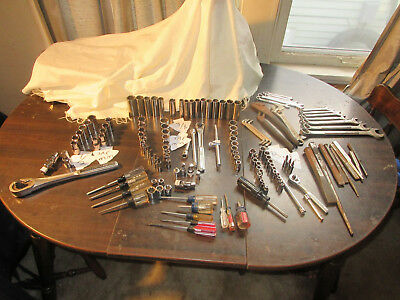 CRAFTSMAN 130+TOOL LOT Wrenches Drivers Sockets Torx chisels