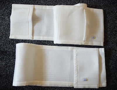 Safe dreams Cot Wrap  2 sided breathable mesh bumper