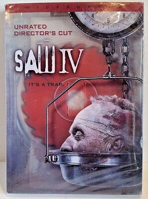 Saw IV (Widescreen Edition) Unrated Director's Cut DVD New Sealed Free S&H