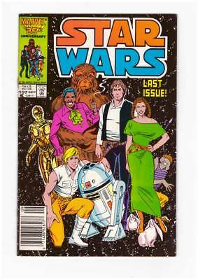 Star Wars # 107  Super scarce Last Issue !  grade 8.0  scarce book !
