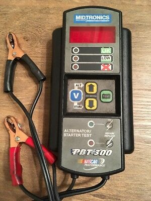 Midtronics MDT PBT300 Advanced Battery Starter Charging Tester, No Reserve