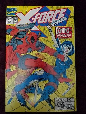 "X-Force #11 (1992)~1st ""real"" Domino appearance ~ Deadpool appearance ~ NM"