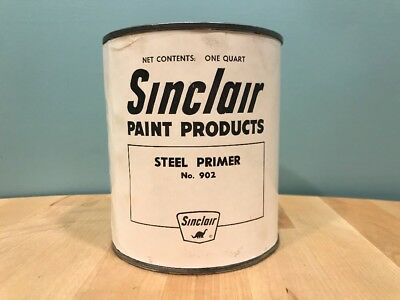 RARE! Vintage Sinclair Oil- Sinclair Paint Products Can 1 QT. Steel Primer- Full