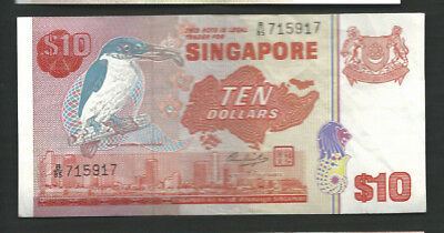 Singapore 1976 10 Dollars P 11b Circulated