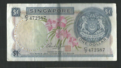 Singapore 1972 1 Dollar P 1d Circulated