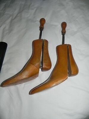 Maxwell London 1908 Antique solid wood boot/shoe trees, stretcher